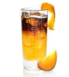 18 Great Jägermeister Cocktail Recipes - Jäger Fresh Orange | 1 1/2 Parts Jägermeister, fresh squeezed orange juice, crushed ice, orange zest.  A visually beautiful drink with orange juice on the bottom and the dark Jägermeister floating on top. Finish with a twist of orange zest and a stir stick.