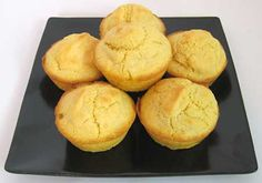 A plate of corn muffins -- science project to explore baking powder's role in baking.
