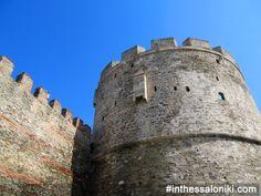 Thessaloniki - Trigoniou Tower - Byzantine walls #Thessaloniki #Trigoniou #Tower ------ Θεσσαλονίκη Πύργος Τρυγωνίου