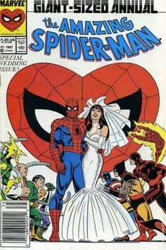Spider-Man Annual #21 is listed (or ranked) 45 on the list The Greatest Superhero Comic Book Covers of All Time