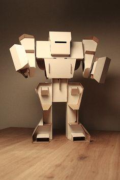 Laser Cut Cardboard Robot  #lasercut #cardboard #diy #crafts