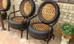 A chair made from tires mildlyinteresting is part of Tire furniture - Tire Furniture, Car Part Furniture, Automotive Furniture, Recycled Furniture, Furniture Design, Handmade Furniture, Automotive Group, Furniture Ideas, Small Patio Ideas On A Budget