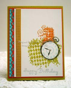 Stampin' Up! Clockworks handmade birthday card