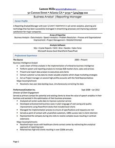 Business Intelligence Analyst Resume Extraordinary Example Of Business Analyst Resumes  Httpwwwresumecareer