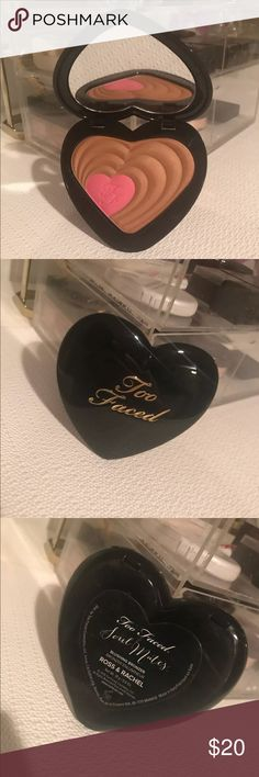 Too Faced Soul Mates Blushing Bronzer Never used only swatched  In excellent condition  Purchased at Sephora Too Faced Makeup