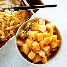 Kuva - Kermaiset lanttukuutiot Kermit, Mashed Potatoes, Side Dishes, Koti, Ethnic Recipes, Anna, Party, Pictures, Whipped Potatoes