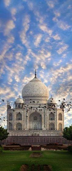 The majestic Taj Mahal in India.