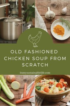 Old Fashioned Chicken Soup From Scratch Hearty Chicken Soup, Chicken Soup Recipes, Easy Soup Recipes, Canning Recipes, Simple Recipes, Yummy Recipes, Healthy Eating Recipes, Whole Food Recipes, Recipe From Scratch