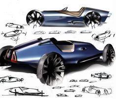Concept Car Sketches by Ewan Gallimore