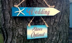 Beach Wedding Sign STARFISH Shoes Optional Sign Wedding Arrow Aqua Blue Turquoise Teal Wedding Aqua Beach Weddings, Beach Wedding Signs, Tropical Wedding Decor, Beach Wedding Colors, Aqua Wedding, Beach Wedding Reception, Beach Wedding Invitations, Maui Weddings, Tent Wedding