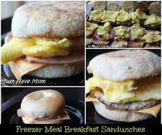 Freezer Meal Breakfast Sandwiches Recipe on Yummly