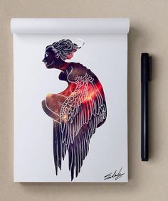 By Muhammed Salah Pretty Drawings, Colorful Drawings, Art Drawings, Galaxy Painting, Galaxy Art, Body Painting, Art And Illustration, Art Challenge, Guache