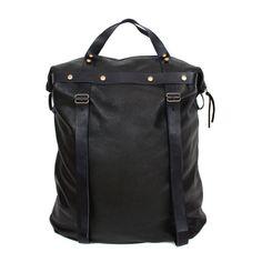 Tall Weekender Bag in Black Leather | SPENCER DEVINE