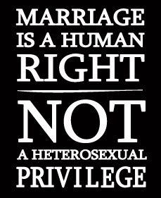 Define heterosexual marriage rights