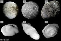 แคสสินีเก็บภาพบางส่วนของดวงจันทร์บริวาร 62 ดวงของดาวเสาร์