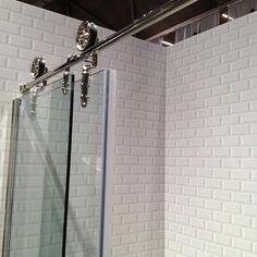 Beveled Subway Tiles, Contemporary, bathroom, Meredith Heron Design