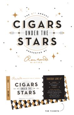Cigars Under the Stars identity by Ashley Nicole
