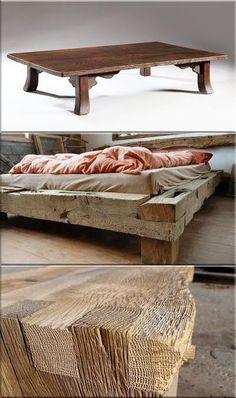 rusztikus design bútorok Rustic Furniture, Furniture Design, Attic Bedrooms, Bed Designs, Wabi Sabi, Projects To Try, Creative, Table, Home Decor