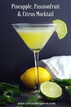 Pineapple, Passionfruit and Citrus Mocktail, this is so deliciously refreshing!