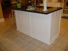 wainscoting on kitchen island 1000 images about beadboard island on kitchen 6927
