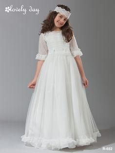1comunion, vestido realizado en organza mate de plumeti