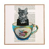 Found it at AllModern - Cat in Cup by Coco de Paris Framed Graphic Art Plaque