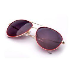 COLOSSEIN ORANGE LABEL Sunglasses Women Polarized Vintage Metal Red Frame Adult Elegant Eyewear Glasses 2017 New Arrival