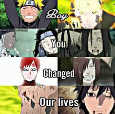 Naruto changed the lives of so msny people.. Haku, Zabuza, Neji, Gaara, Nagato, Obito, Sasuke ❤️❤️❤️ Talk No Jutsu never fails