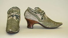 European shoes from the 17th–18th century, from the Metropolitan Museum of Art