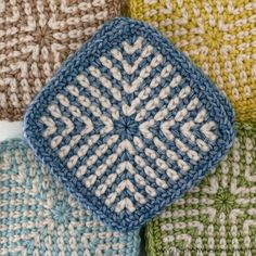 Two-colour Linen Crochet Square, free crochet pattern by Dedri Uys on Look at What I Made