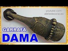 DIY GARRAFA DECORADA AFRICANA - Artesanato fácil do Compartilhando Arte ft Atelie DeCoração - YouTube