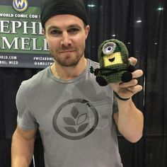 Stephen Amell  repining because I love the Green Arrow minion, too.  :)