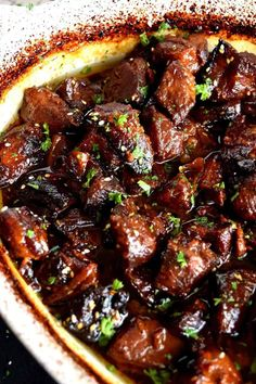 Tender, with charred bits, these Honey Garlic Baked Pork Bites are delicious and. Tender, with charred bits, these Honey Garlic Baked Pork Bites are delicious and easy to prepare. Perfect for a fam Cubed Pork Recipes, Stew Meat Recipes, Cooking Recipes, Leftover Pork Recipes, Pork Recipes For Dinner, Recipes With Pork Cubes, Kitchen Recipes, Pork Pieces Recipes, Pork Dinner Ideas