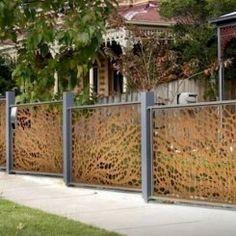 78 Ideas Of Modern Garden Fence Designs For Summer Ideas - Home/Decor/Diy/Design Diy Design, Fence Design, Garden Design, Design Ideas, House Design, Modern Front Yard, Fire Pit Patio, Low Maintenance Garden, Contemporary Garden