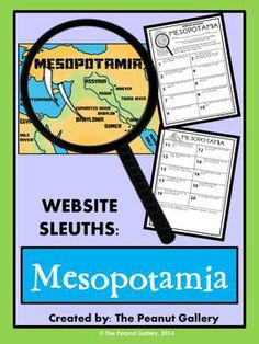 """Your students will become internet detectives during this """"scavenger hunt"""" webquest activity involving the ancient civilization of Mesopotamia. ($)"""