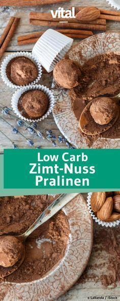 Diese Low Carb Pralinen müsst ihr probieren! Alles, was ihr braucht, sind Datteln, Mandeln und Zimt - hier ist das super einfache Rezept!