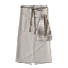 Linen Cafe Apron in Oatmeal / Color