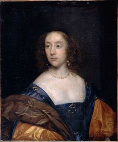 Johnson, Cornelius the elder - Portrait of a Lady in Blue 1639 (painted before the artist left England (?)