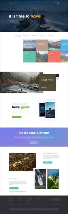 Simple and smart is a clean and professional #Photoshop template #travel #agencies multipurpose websites with 4 unique homepage layouts and 14 organized PSD pages download now➩ https://themeforest.net/item/simple-and-smart-psd-template/18914090?ref=Datasata
