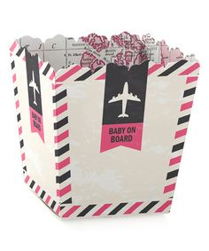 Pink Precious Cargo 'Baby On Board' Candy Boxes - Set of 24 #zulily #zulilyfinds