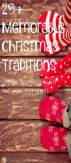 I love Christmas traditions! Here are 29+ memorable family Christmas traditions…