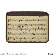 Antique Sheet Music Sleeves For MacBook Air