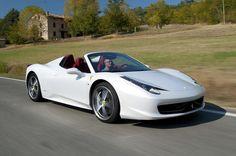 white ferrari 458 red interior