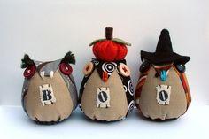 BOO - Halloween owls.