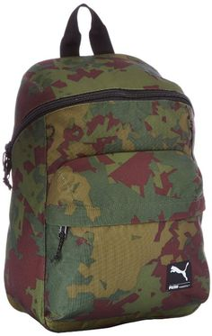 507d0824ed Puma Foundation Dark Olive and camo Casual Backpack  Amazon.in  Luggage    Bags