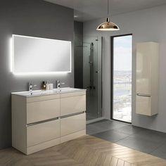 Bathroom storage mirror drawers ideas for 2019 Bathroom Sink Vanity Units, Double Basin Vanity Unit, Bathroom Vanity Storage, Storage Mirror, Storage Drawers, Bathroom Cabinets, Cabinet Storage, Storage Spaces, Organizing Drawers