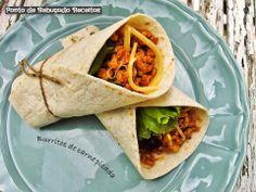Ponto de Rebuçado Receitas: Burritos de carne picada