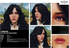 Yennefer - Official reference Yennefer Witcher, Yennefer Cosplay, Yennefer Of Vengerberg, The Witcher 3, Hands Reaching Out, Black Eyebrows, New Gods, Costume Design, Hair Makeup
