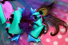 Beautiful Peacock Hair Bow by MegansHairCandy on Etsy, $12.50