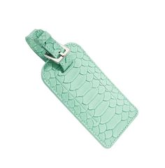 mint luggage tag.